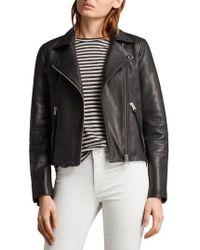AllSaints - Dalby Biker Jacket - Lyst