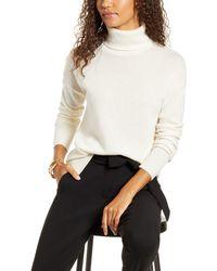 Halogen - Halogen Cashmere Turtleneck Sweater - Lyst