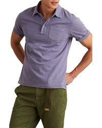 Alex Mill Standard Short Sleeve Slub Pocket Polo - Blue