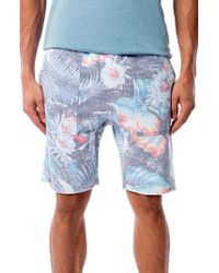 Sol Angeles - Aqua Flora Saddle Shorts - Lyst