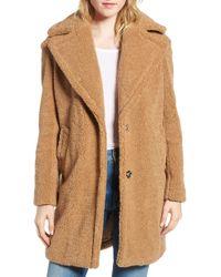 Kensie - Faux Fur Teddy Bear Coat - Lyst