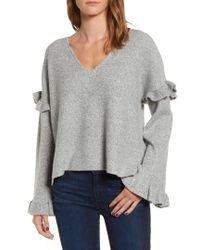 Cupcakes And Cashmere - Ruffle Slouchy Sweater - Lyst