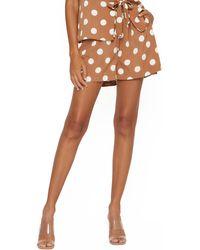 4si3nna Kimora Drawstring Shorts - Brown