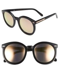 16379e010597 Karen walker Special Fit Super Duper Thistle Sunglasses - Black ...