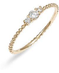 Bony Levy Diamond & Gold Bead Ring (nordstrom Exclusive) - Metallic