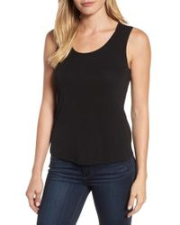 Eileen Fisher - Scoop Neck Silk Tank - Lyst