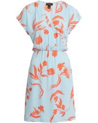 Halogen Halogen Faux Wrap Dress - Blue