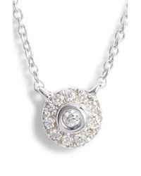 Dana Rebecca - Lauren Joy Mini Diamond Disc Necklace - Lyst