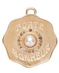 Marlo Laz - Porte Bonheur Pearl Coin Charm - Lyst