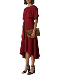 Whistles - Belted Midi Dress - Lyst