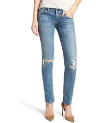 Citizens of Humanity - Racer Ripped Skinny Jeans - Lyst