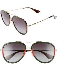 526d721e7ae Lyst - Gucci Medium Aviator Sunglasses in Orange for Men