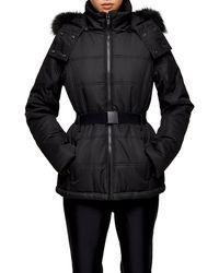 TOPSHOP black Hooded Ski Jacket By Sno