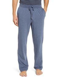 Daniel Buchler Stretch Cotton & Modal Pyjama Pants - Blue