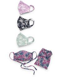 Nordstrom Assorted 4-pack Adult Face Masks, Purple