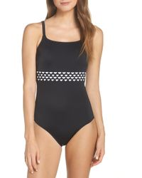 Amoena Cocos Pocketed One-piece Swimsuit - Black
