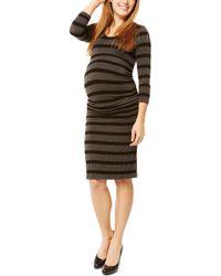 0101ca4d19248 Lyst - Nom Maternity Valentina Ponte Knit Maternity/nursing Dress in ...