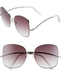 BP. 58mm Gradient Butterfly Sunglasses - Metallic