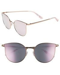 Juicy Couture - 56mm Metal Cat Eye Sunglasses - Lyst