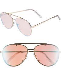 Glance Eyewear 59mm Aviator Sunglasses - Multi - Pink