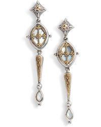 Konstantino - Etched Sterling & Pearl Earrings - Lyst