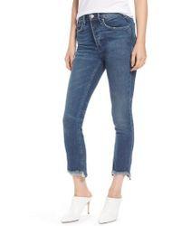 Mcguire - Valetta High Waist Crop Straight Leg Jeans - Lyst
