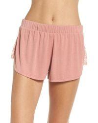 Honeydew Intimates - Lace Trim Ribbed Pajama Shorts - Lyst