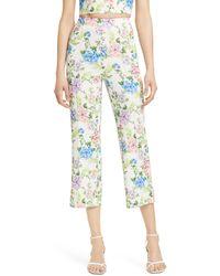 Alice + Olivia - Lorinda Floral Crop Trousers - Lyst