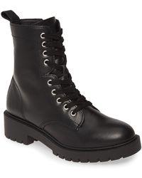Steve Madden Guided Combat Boot - Black