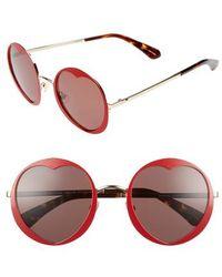 Kate Spade - Rosaria 53mm Heart Cutout Lens Sunglasses - - Lyst
