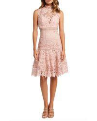 Bardot - Elise Mock-neck Sleeveless Lace Dress - Lyst