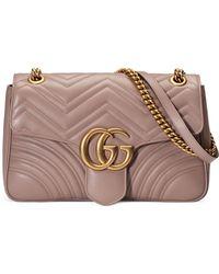 53b90a54f7cac Gucci - GG Marmont Medium Matelassé Shoulder Bag - Lyst