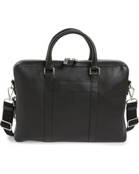 Shinola Signature Leather Briefcase - Black