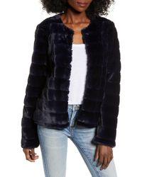 Vero Moda - Vmavenue Faux Fur Jacket - Lyst