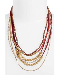 Serefina - Mixed Media Statement Necklace - Lyst