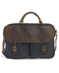Barbour   Waxed Canvas Briefcase   Lyst