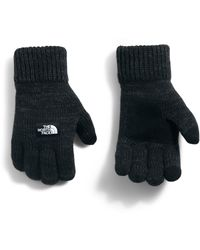 The North Face Etip Salty Dog Knit Tech Gloves - Black