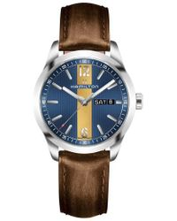 Hamilton - Broadway Leather Strap Watch - Lyst