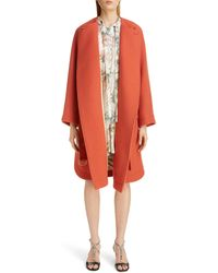 Chloé Chloé Iconic Wool Blend Coat - Orange