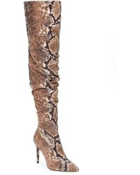 Jessica Simpson Lyrelle Pointy Toe Slouchy Knee High Boot - Brown