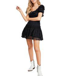 Free People - Lace Minidress - Lyst