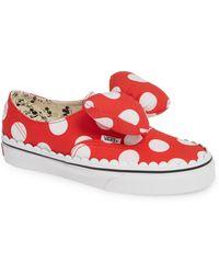 ea18bfe5156 Vans - X Disney Minnie Mouse Ua Authentic Gore Low-top Sneaker - Lyst