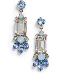 Sorrelli Petal Crystal Drop Earrings - Blue