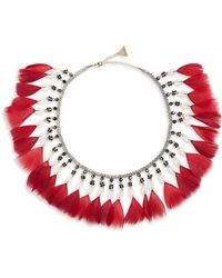 Serefina - Fluid Feather Collar Necklace - Lyst