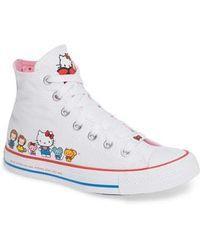 56bdbc2e7bdf Converse - Chuck Taylor All Star Hello Kitty High Top Sneaker - Lyst