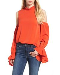 BISHOP AND YOUNG   Bishop + Young Cold Shoulder Blouse   Lyst