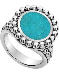 Lagos Maya Small Circle Ring - Metallic