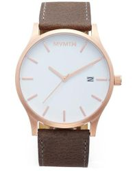 MVMT - The Classic Leather Strap Watch - Lyst