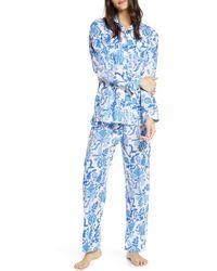 Roberta Roller Rabbit Amanda Floral Print Pajamas - Blue