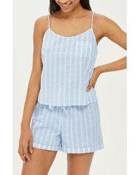 TOPSHOP - Stripe Camisole Pajama Top - Lyst